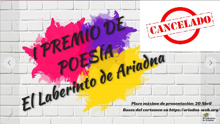I Premio de Poesía El Laberinto de Ariadna CANCELADO