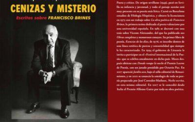 'Cenizas y misterio. Escritos sobre Francisco Brines', de Alejandro Duque Amusco